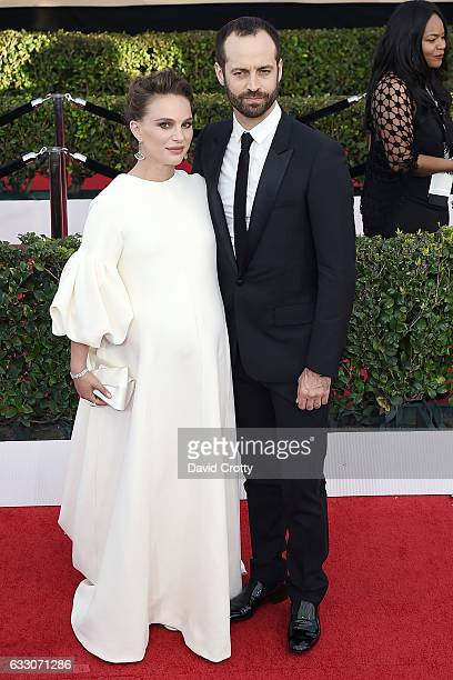 Natalie Portman and Benjamin Millepied attend the 23rd Annual Screen Actors Guild Awards at The Shrine Expo Hall on January 29 2017 in Los Angeles...