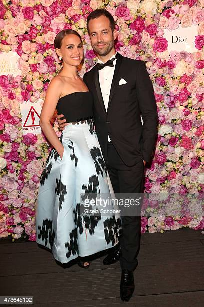 Natalie Portman and Benjamin Millepied attend the 'A Tale of Love and Darkness' Party during the 68th annual Cannes Film Festival on May 16 2015 in...