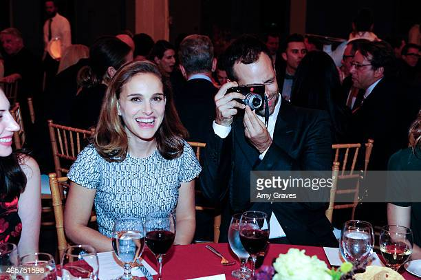 Natalie Portman and Benjamin Millepied attend the LA Dance Project Benefit Gala at the Cooper Building on October 25 2014 in Los Angeles California