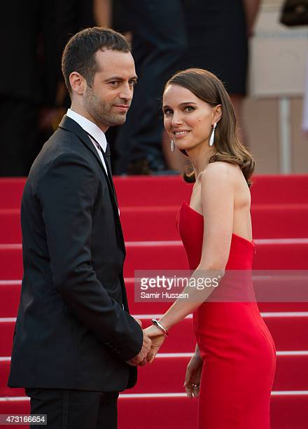 Natalie Portman and Benjamin Millepied attend the opening ceremony and premiere of 'La Tete Haute during the 68th annual Cannes Film Festival on May...