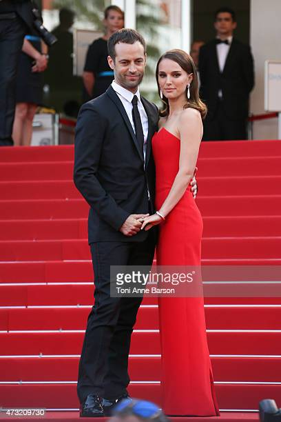 Natalie Portman and Benjamin Millepied attend the opening ceremony and 'La Tete Haute' premiere during the 68th annual Cannes Film Festival on May 13...