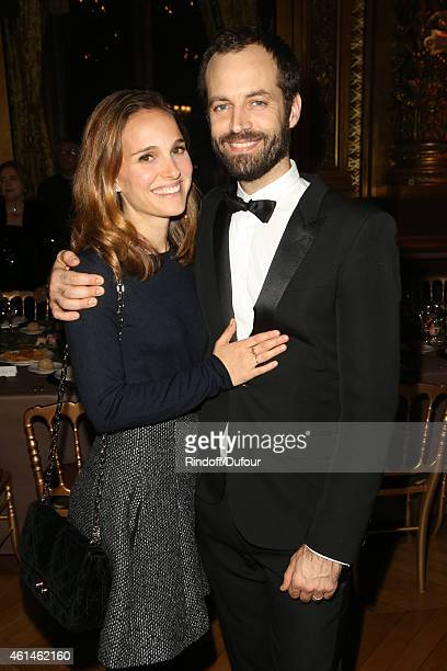 Natalie Portman and Benjamin Millepied attend the Pasteur Weizmann Institute 40th anniversary celebration at Opera Farnier in Paris at Opera Garnier...