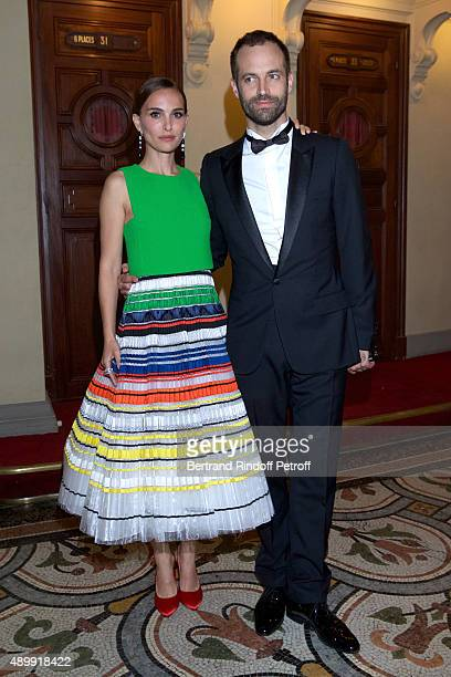 Natalie Portman and Paris National Opera dance director Benjamin Millepied attend the Ballet National de Paris Opening Season Gala at Opera Garnier...