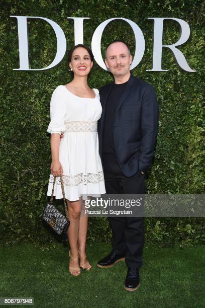 Natalie Portman and Peter Philips attend 'Christian Dior couturier du reve' Exhibition Launch celebrating 70 years of creation at Musee Des Arts...
