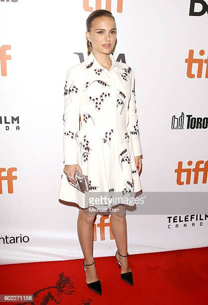 Natalie Portman arrives at the 2016 Toronto International Film Festival 'Planetarium' premiere held at Roy Thomson Hall on September 10 2016 in...