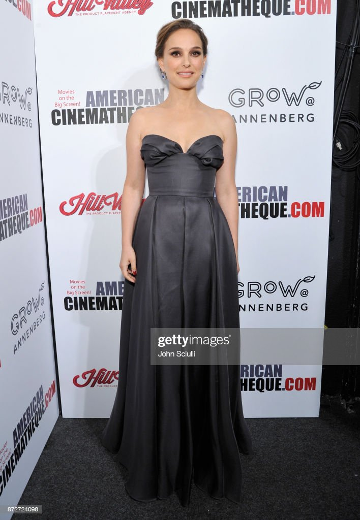Natalie Portman attends the 31st American Cinematheque Award Presentation Honoring Amy Adams Presented by GRoW @ Annenberg. Presentation of The 3rd Annual Sid Grauman Award Sponsored by Hill Valley, presented to Richard Gelfond and Greg Foster on behalf of IMAX at The Beverly Hilton Hotel on November 10, 2017 in Beverly Hills, California.