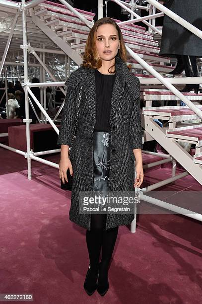 Natalie Portman attends the Christian Dior show as part of Paris Fashion Week Haute Couture Spring/Summer 2015 on January 26 2015 in Paris France