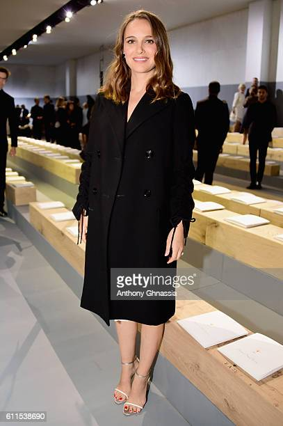 Natalie Portman attends the Christian Dior show as part of the Paris Fashion Week Womenswear Spring/Summer 2017 on September 30 2016 in Paris France