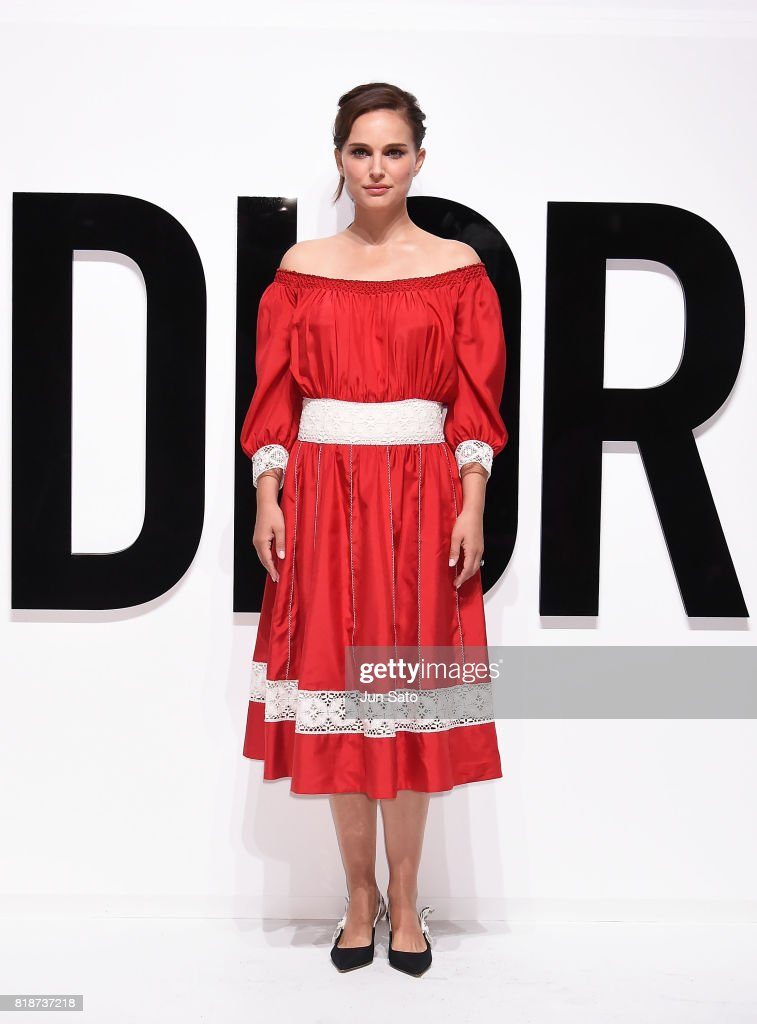 Natalie Portman attends the Dior For Love photocall at Warehouse Terrada on July 19, 2017 in Tokyo, Japan.