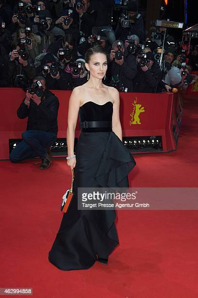 Natalie Portman attends the 'Knight of Cups' premiere during the 65th Berlinale International Film Festival at Berlinale Palace on February 8 2015 in...