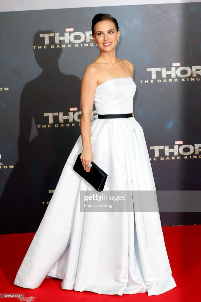 <a gi-track='captionPersonalityLinkClicked' href=/galleries/search?phrase=Natalie+Portman&family=editorial&specificpeople=202035 ng-click='$event.stopPropagation()'>Natalie Portman</a> attends the 'Thor: The Dark Kingdom' Germany Premiere at CineStar Potsdamer Platz on October 27, 2013 in Berlin, Germany.