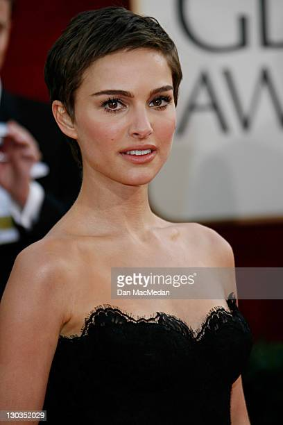 Natalie Portman during The 63rd Annual Golden Globe Awards Arrivals at Beverly Hilton Hotel in Beverly Hills California United States