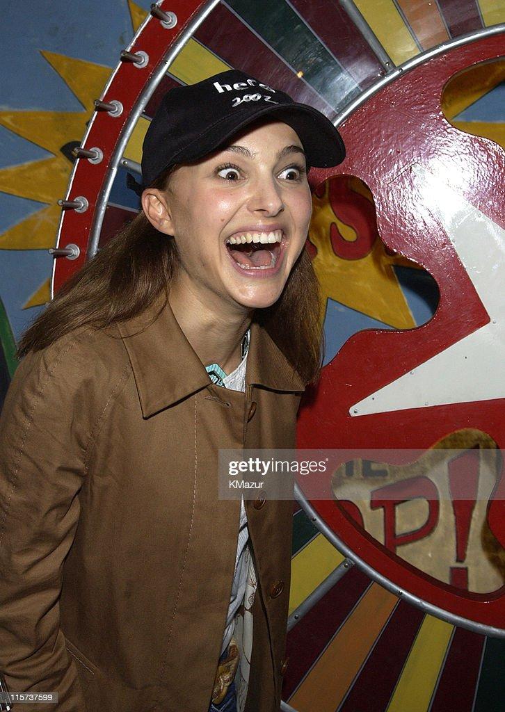 Natalie Portman hosts the Color Wheel booth