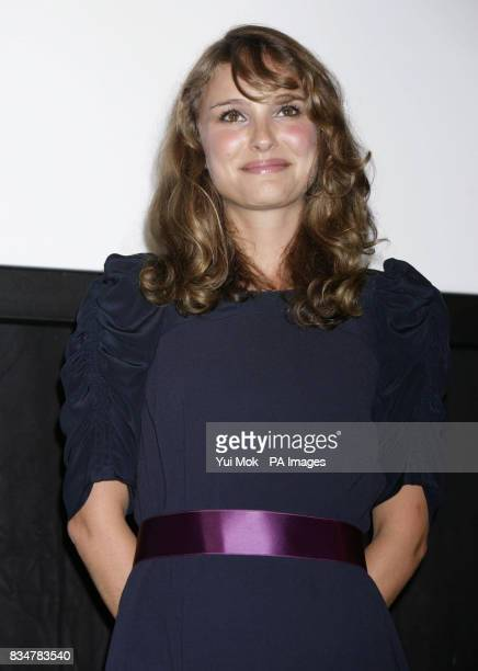 Natalie Portman receives the Movie for Humanity Award Kineo Diamanti al Cinema Award at Hotel Des Baines on Venice Lido Italy during the 65th Venice...