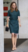 Natalie Portman seen at BBC Radio One to promote Thor 2 on October 22 2013 in London England