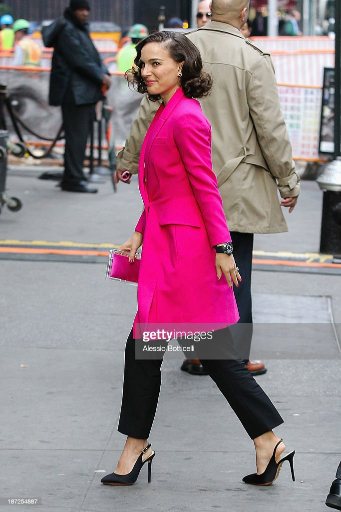 Natalie Portman seen at 'Good Morning America' TV Show on November 7, 2013 in New York City.