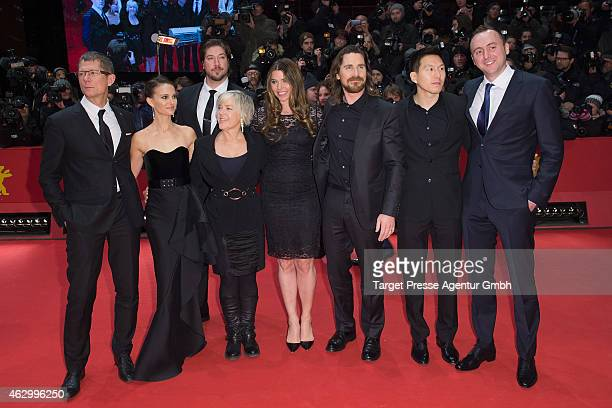 Natalie Portman Tanner Beard Christian Bale Sibi Blazic Ken Kao Nicolas Gonda Sarah Green and guests attend the 'Knight of Cups' premiere during the...