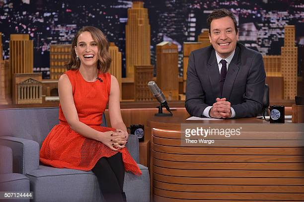Natalie Portman Visits 'The Tonight Show Starring Jimmy Fallon' on January 27 2016 in New York City