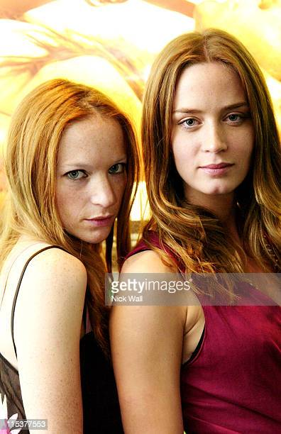 Natalie Press and Emily Blunt during The Times BFI London Film Festival 2004 'Summer of Love' Screening at Odeon West End in London Great Britain