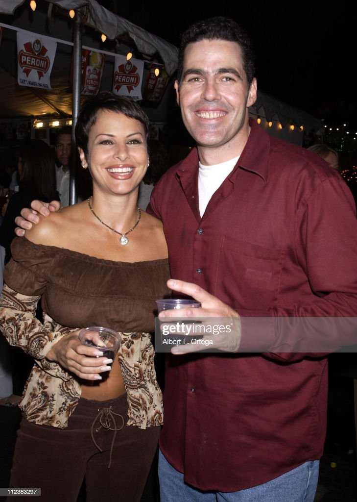 Natalie Raitano and Adam Carolla during The Feast of San Gennaro Presented by Precious Cheese - Day 1 at Hollywood Ivar Lot in Hollywood, California, United States.