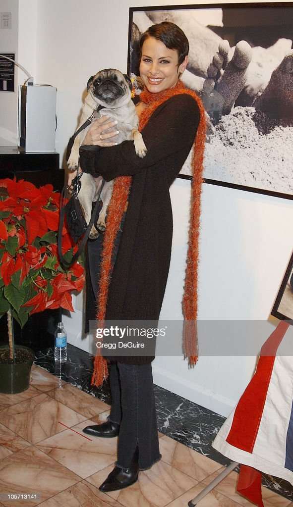 Natalie Raitano & Foo during Exhibition by Celebrity Animal Photographer Christopher Ameruoso at Hamilton-Selway Fine Arts in West Hollywood, California, United States.