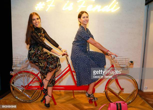 Natalie Salmona and Lilly Worcester attends the opening of the 'F Is Fendi' popup store at Harrods on September 6 2017 in London England