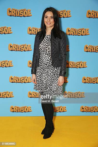 Natalie Sawyer attends a VIP screening of 'Robinson Crusoe' at the Vue West End on April 3 2016 in London England