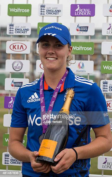 Natalie Sciver of England with the Player of The Match Award after the 1st Royal London ODI of the Women's Ashes Series between England Women v...
