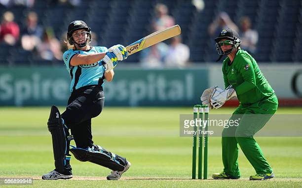 Natalie Sciver of Surrey Stars bats during the Womens Kia Super League match between Western Storm and Surrey Stars at the Brightside Ground on...