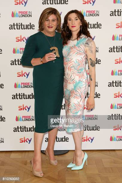 Natalie Scott and Juno Dawson attend The Attitude Pride Awards 2017 at Mandarin Oriental Hyde Park on July 7 2017 in London England