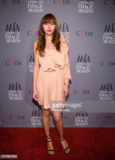 Natalie Suarez arrives at the American Apparel Footwear Association's 39th Annual American Image Awards 2017 on April 24 2017 in New York City