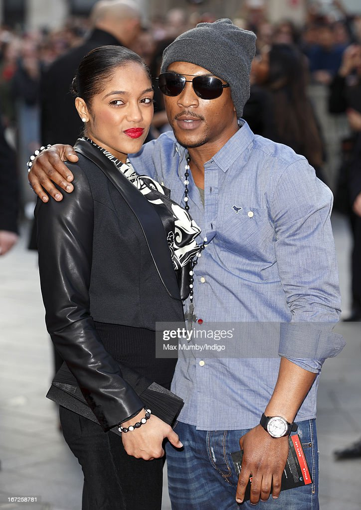 Natalie Williams and Ashley Walters attend a special screening of 'Iron Man 3' at Odeon Leicester Square on April 18, 2013 in London, England.