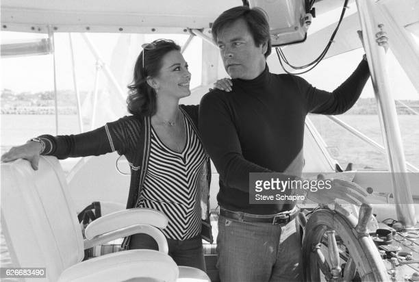 Natalie Wood and Robert Wagner on their boat The Splendor