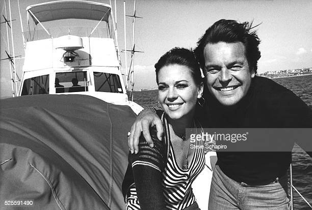Natalie Wood and Robert Wagner on their yacht 10/8/76