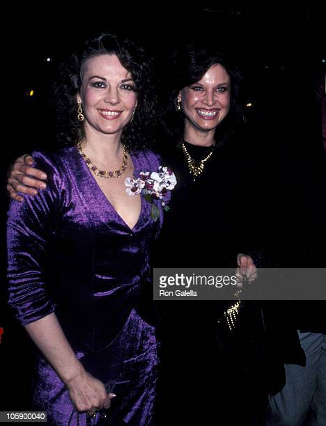 Natalie Wood and Sister Lana Wood during Screening of 'Dark Eyes' March 23 1981 at Warner Beverly Theater in Beverly Hills California United States