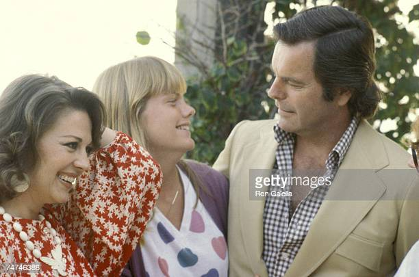 Natalie Wood Robert Wagner and Daughter Katie Wagner at the in Malibu California