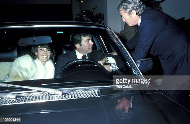 Natalie Wood Robert Wagner and Gregory Peck during Gregory Peck and Robert Wagner Sighting at Jimmy's Restaurant January 2 1981 at Jimmy's Restaurant...