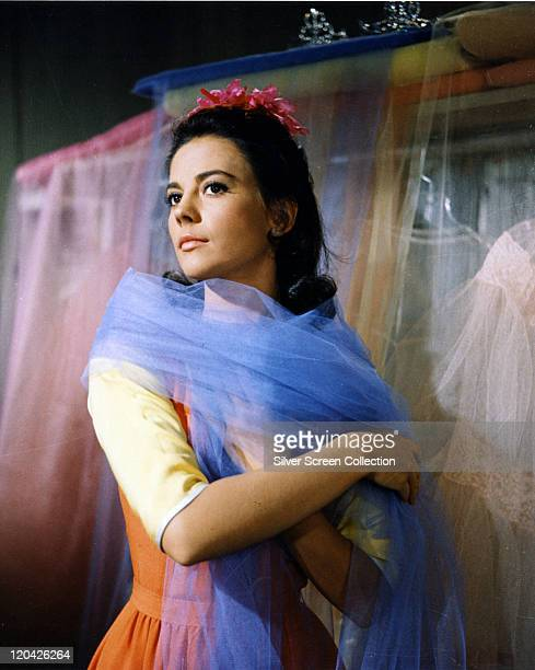 Natalie Wood US actress wearing a blue chiffon scarf in a publicity portrait issued for the film 'West Side Story' 1961 The musical directed by...