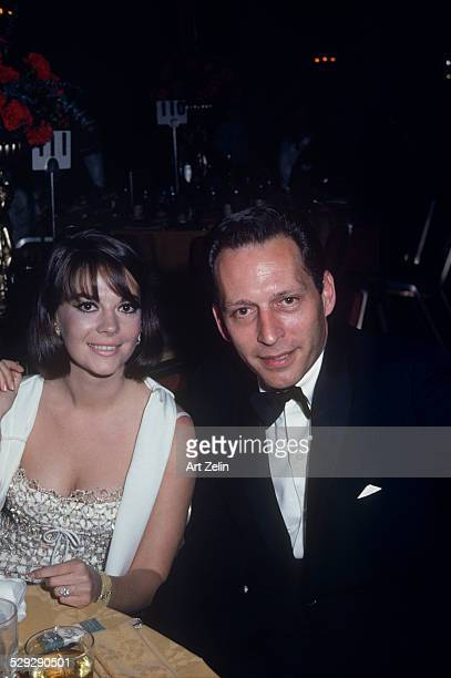 Natalie Wood with a friend at a formal dinner circa 1970 New York