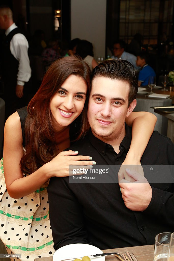 Natalie Zfat and Louis Greco attend Natalie Zfat's Brunch at Clement Restaurant in the Peninsula Hotel on July 20, 2014 in New York City.