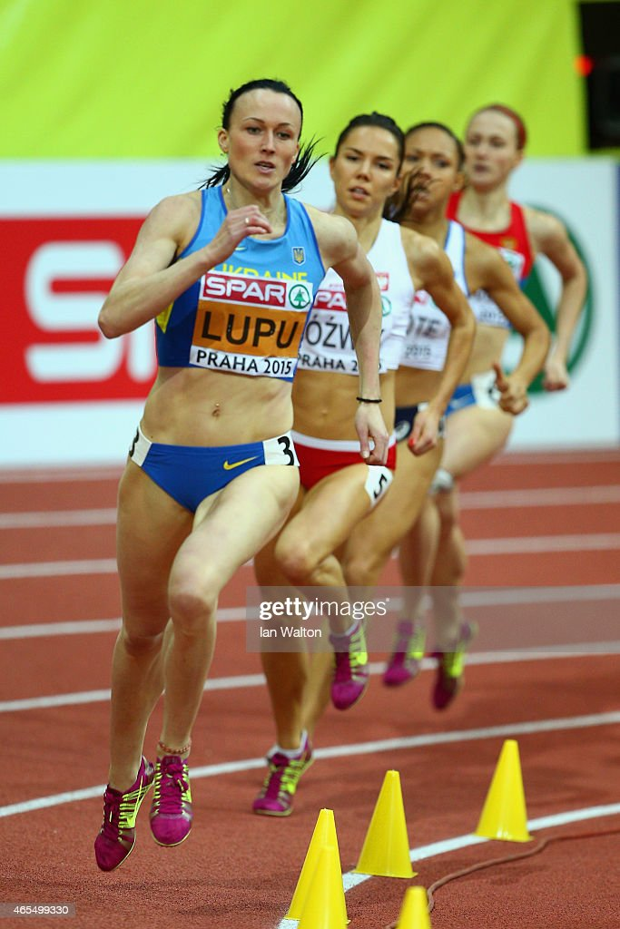 Nataliya Lupu of Ukraine competes in the Women's 800 metres Semi-final during day two of the 2015 European Athletics Indoor Championships at O2 Arena on March 7, 2015 in Prague, Czech Republic.