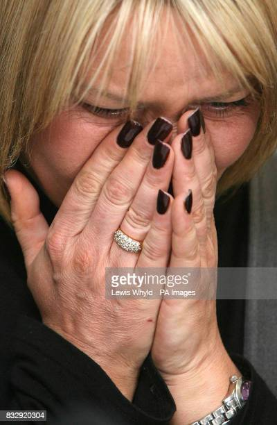 Natallie Evans holds a press conference at a hotel in east London after she lost her fight at the European Court of Human Rights to become a mother...