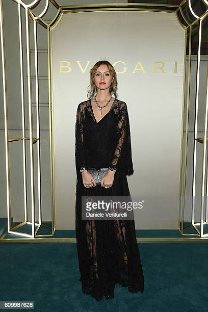 Nataly Osmann attends BVLGARI Dinner Party during Milan Fashion Week Spring/Summer 2017 at Bulgari Hotel on September 23 2016 in Milan Italy
