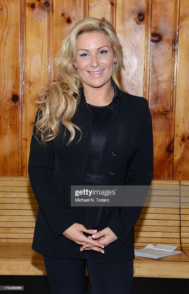 Natalya delivers an anti-bullying message at Ironbound Boys And Girls Club on July 15, 2013 in Newark, New Jersey.