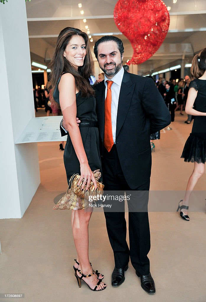 Natalya Manoukian and Kamel Alzarka attend the Masterpiece Midsummer Party in aid of Marie Curie at The Royal Hospital Chelsea on July 2, 2013 in London, England.