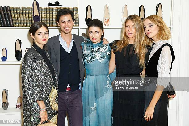 Natalya Poniatowski Francois du Chastel Lucillia Bonaccorsi Virginia Galateri and Candela Novembre attend the dinner hosted by Chatelles as part of...