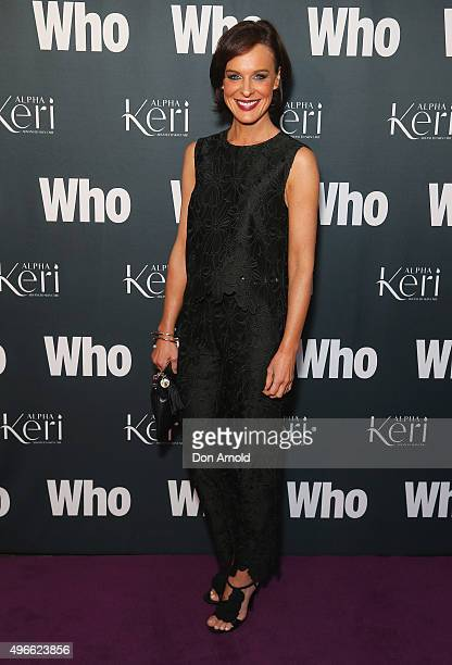 Natarsha Belling arrives ahead of WHO Australia's Most Intriguing People 2015 party at Ananas on November 11 2015 in Sydney Australia