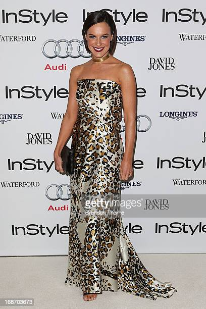 Natarsha Belling arrives at the 2013 Instyle and Audi Women of Style Awards at Carriageworks on May 14 2013 in Sydney Australia