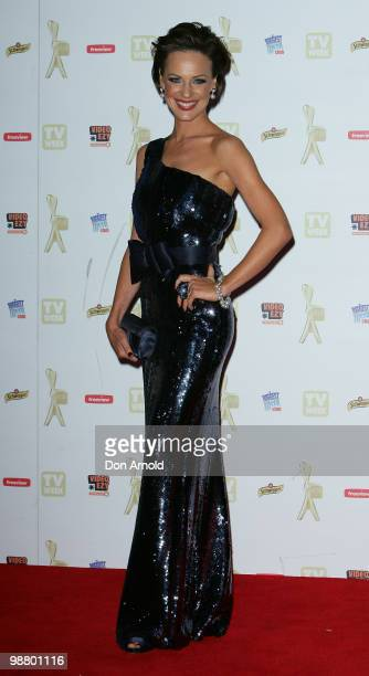 Natarsha Belling arrives at the 52nd TV Week Logie Awards at Crown Casino on May 2 2010 in Melbourne Australia