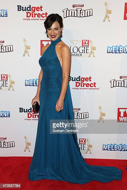 Natarsha Belling arrives at the 57th Annual Logie Awards at Crown Palladium on May 3 2015 in Melbourne Australia